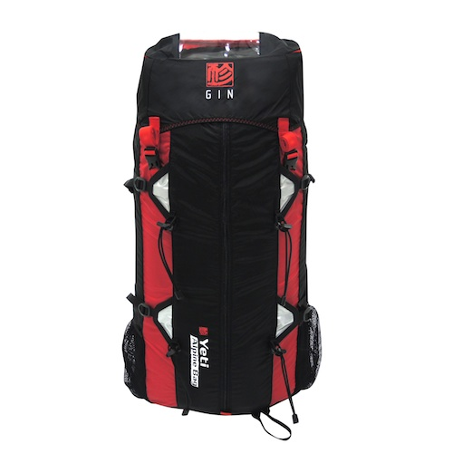 GIN Yeti alpine bag red 60L